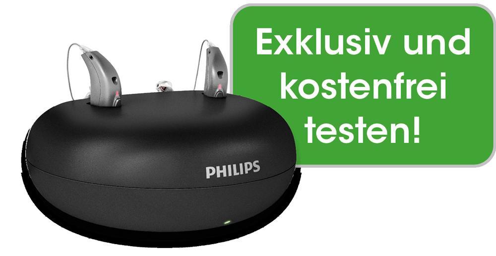 Philips Akku-Hörsysteme kostenfrei testen